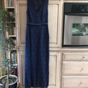 BCBG maxazria gown blue lace sz 12